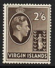 VIRGIN ISLANDS SG118 1938 2/6 SEPIA MTD MINT