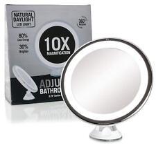Fancii Espejo de Maquillaje LED con Aumento de 10X  Cosmético Iluminado 360°