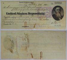 1904 U.S. Depository Quartermasters Check ~ Manila Philippines ~Stanton Vignette
