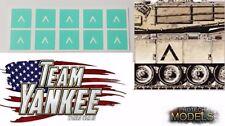 Team Yankee-Chevron Tank marquage Masques - 4 mm