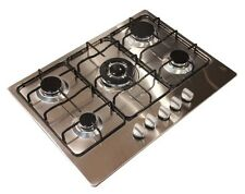 Kitchenplus KP55 Stainless Steel 5 Burner Zone Gas Hob Cooker - 70cm - FREE P&P
