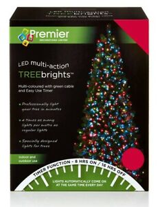 Multi Action Treebrights Led Christmas Timer Lights - Various Sizes & Colours