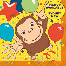 CURIOUS GEORGE BIRTHDAY PARTY SUPPLIES 16 SMALL BEVERAGE NAPKINS