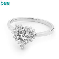 New Classic Natural Simulated Diamond 925 Sterling Silver Cluster Rings 35467/*