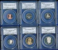 2004 U.S. Mint *Silver* Proof Sets PCGS PF 69 DC 6 coins