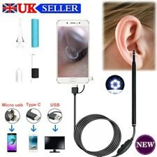 Ear Wax Remover Camera Ear Endoscope Spoon Pick Cleaning Tool Kit HD Cleaner New