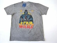 STAR WARS MOVIE DARTH VADAR DYED GRAY XL VINTAGE RETRO ART TSHIRT MENS NWT NEW