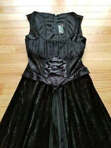 Hot Topic Lip Service Dress Gown Gothic Vintage Size Small