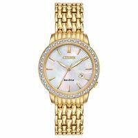 Citizen Eco-Drive Women's Diamond Accents Gold-Tone 29mm Watch EW2282-52D