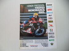 advertising Pubblicità 1985 MOTO HONDA VF 400 F TROFEO