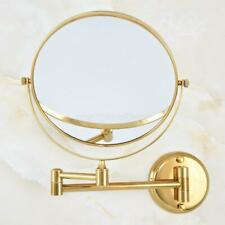 Luxury Gold Double Side Wall Mounted Magnifying Bathroom Vanity Makeup Mirror