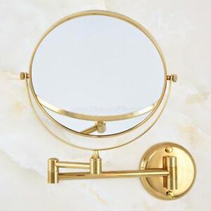 Luxury Gold Double Side Wall Mounted Magnifying Bathroom Vanity Makeup Mirror