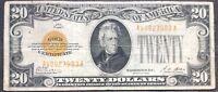 USA 20 Dollar 1928 Gold Certificate Banknote $20 Guter Zustand Sehr Selten #9605