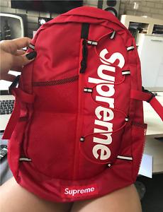 NEW HOT SS17 Supreme Backpack Designer Brand Bag Rucksack Unisex Travel Fashion