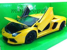 WELLY 24033 LAMBORGHINI AVENTADOR LP700-4 1/24 DIECAST MODEL CAR YELLOW