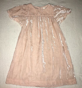 Crewcuts Girls Crushed Velvet Dress - Size 6