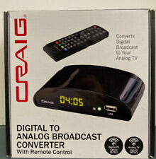 New listing Craig Cvd509n Digital To Analog Broadcast Converter with Remote Control. Sealed.