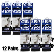 Bulk Buy 12 Pair Ladies Small Black 1000 Mile Tactel Sport Race Gym Workout Sock