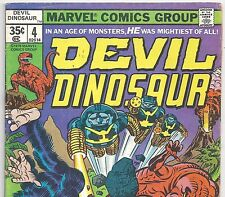 Marvel Comics DEVIL DINOSAUR #4 with Moon Boy! from July 1978 in VG+ Condition