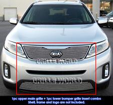 Fits 2014-2015 Kia Sorento Billet Grill Insert Combo