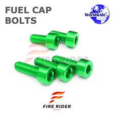 FRW Green Fuel Cap Bolts Set For Kawasaki ZZR 1400 / ZX 14 06-07 06 07