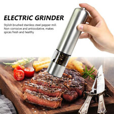 Kitchen Electric Salt And Pepper Grinder Mill Automatic Adjustable Coarseness 1