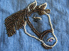 VGUC Size 4 Girl & Co Jeans - Beautiful Beaded Horse on right leg - A MUST HAVE!