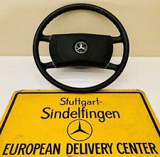 Mercedes Benz W114 W107 W116 W123 Steering Wheel Black With Chrome Rings GENUINE