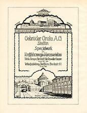 Autobau und Karosserie Grote Stettin XL 1924 Reklame Szczecin Werbung Auto  +