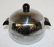 West Bend Classic Vintage 1950's Art Deco Penguin Ice Bucket w/ Bakelite Handles