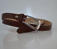 cintura donna vera pelle h1,8 cm moda cinta made in italy nera marrone regolabil
