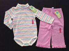 NWT Gymboree Sweet Cupcake 12-18 Rainbow Stripe Bodysuit & Ruffle Knit Pants