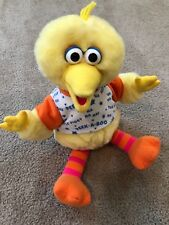 Sesame Street Big Bird Talking Peek a Boo Tyco Plush Playtime Vintage Tyco 16""