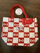 Vivitix Hello Kitty 30th Birthday Tote Red Bow Checkard Limited Rare Sanrio