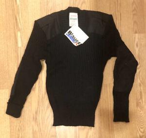 Blauer 100% Wool V-Neck Sweater 200 Dark Navy Color S Reg / New