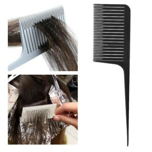 Plastic Weaving Highlighting Foiling Hair Comb for Salon Styling Combs Black