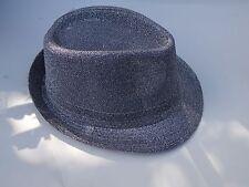 SIVER GLITTERY FABRIC FEDORA HAT~*~FASHION BOY DRESS UP