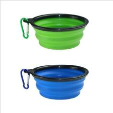 Portable Silicone Cat Dog Pet Feeding Bowl Water Dish Feeder Travel Collapsible