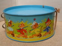 Early Old Tinplate Drum Foreign