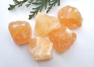 1 x Orange Calcite Raw Natural Crystal Mineral Specimen 30mm+