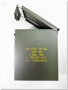 US Ammo Cans Steel Box 50 Cal Nato Standarts 100 M9 Large - Factory New