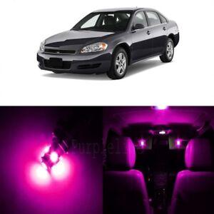 13 x Pink LED Interior Light Kit For 2006 - 2013 Chevrolet Chevy Impala + TOOL
