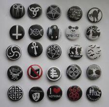 Button Versch. Motive - Gothic Deathrock Batcave Darkwave Gothpunk Postpunk