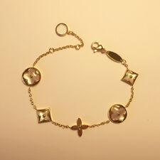 Bracelet Doré Cercle Carré Trèfle Acier Inox Plaqué Or Nacre Blanc Courbe TRT3