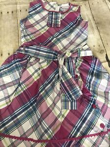 American Girl  Plaid Ruffle Party Dress for Girls Size 10, Euc