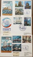 Paraguay Sail Ships Paintings Nordposta 1977 FDC to Hamburg