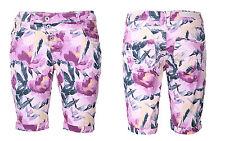 Rock Angel Mujer Shorts Bermudas Pantalones Cortos Verano Flor 5 Bolsillo Patrón