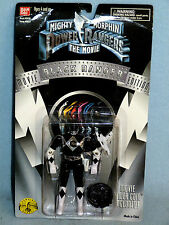 POWER RANGERS MMPR MOVIE EDITION BLACK RANGER NEW IN BOX INCLUDES MOVIE COIN