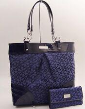 New Tommy Hilfiger Large Tote Bag & Wallet Set - Navy Blue