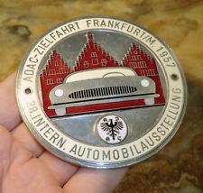 AUTOPLAKETTE ADAC Zielfahrt Frankfurt a.M. 38. AUTOMOBIL AUSSTELLUNG 1957 A55